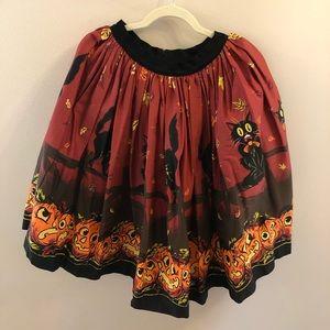 Pinup Girl Clothing Pumpkin Border Jenny Skirt